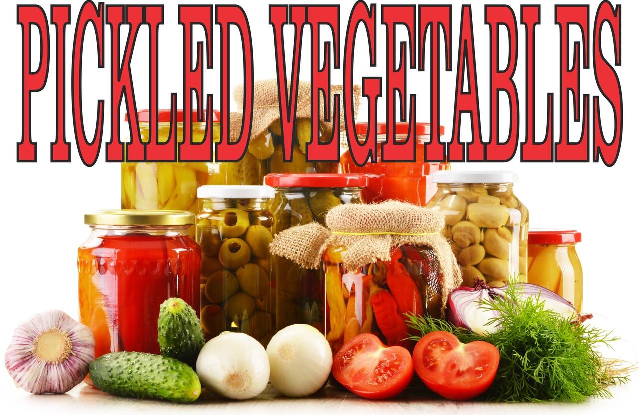 Pickled Vegetable Banner Brings In New Customers.
