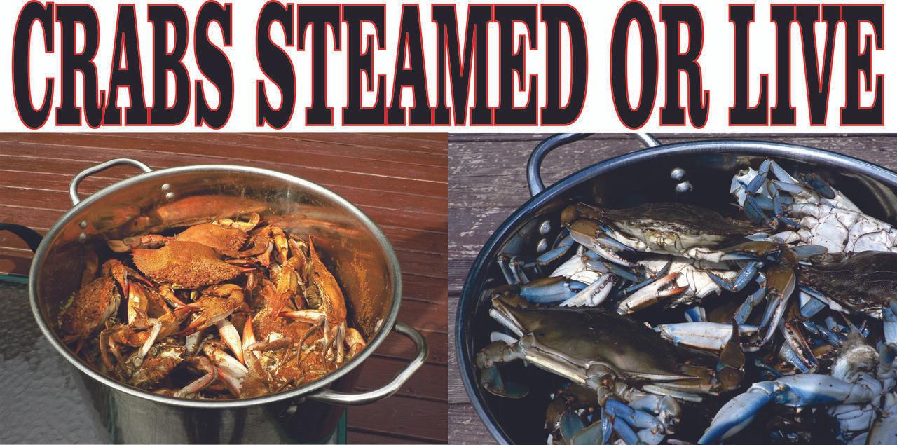 Crabs Steamed Or Live Banner Gets Noticed!
