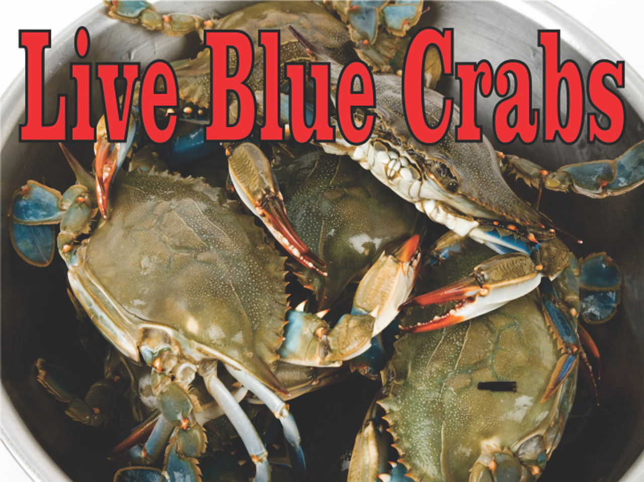 Live Blue Crabs Banner always get noticed.