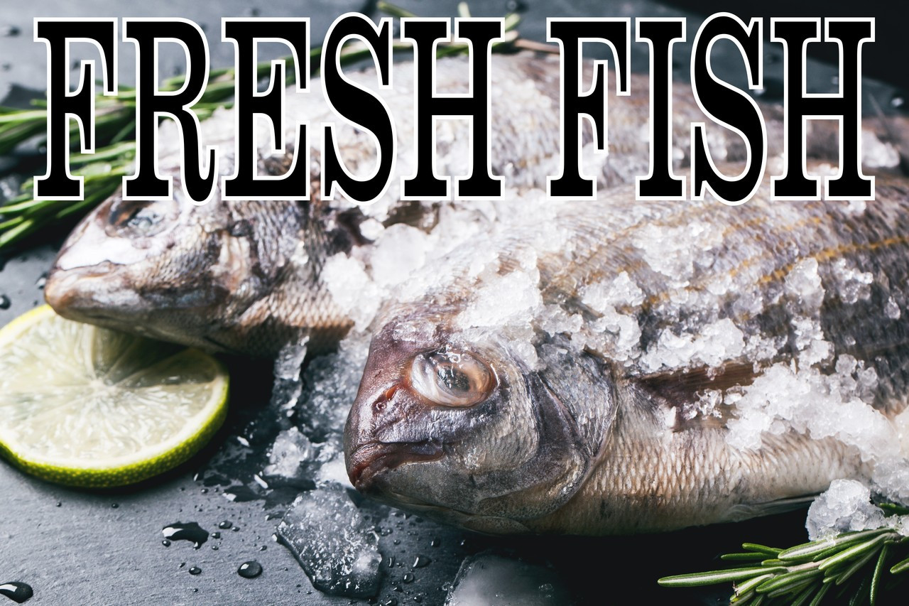 Fresh Fish On Ice Banner will Get Noticed & Bring In Customers.