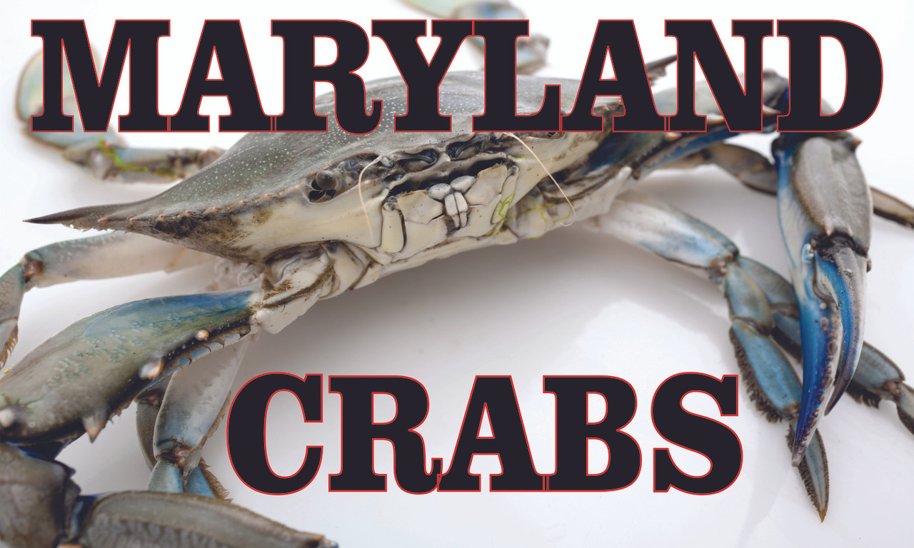 Maryland Crab Banner Always Invites Customers to Stop In.