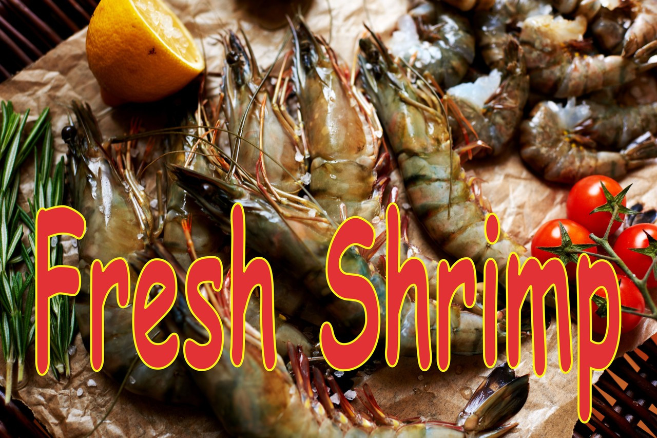 Fresh Shrimp with Life like Image will Get Noticed.