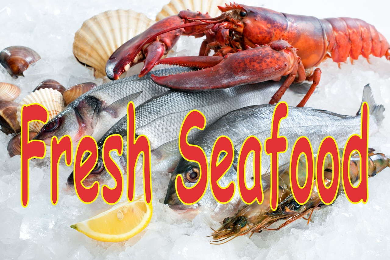 Fresh Seafood Banner Help Get You Noticed.