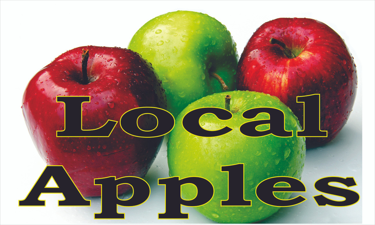 Local Apples Its Green & Red Color Help Get You Noticed.