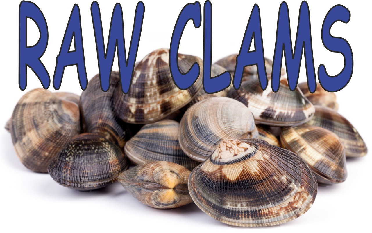 Raw Clams Banner is Nice for Seafood Stands.