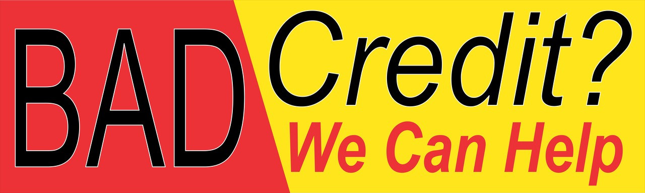 Auto Banner Bad Credit We Can Help.