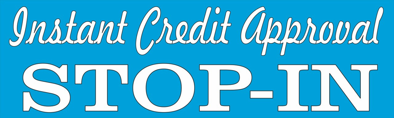 Instant Credit Approval Used Auto Dealer Banner.