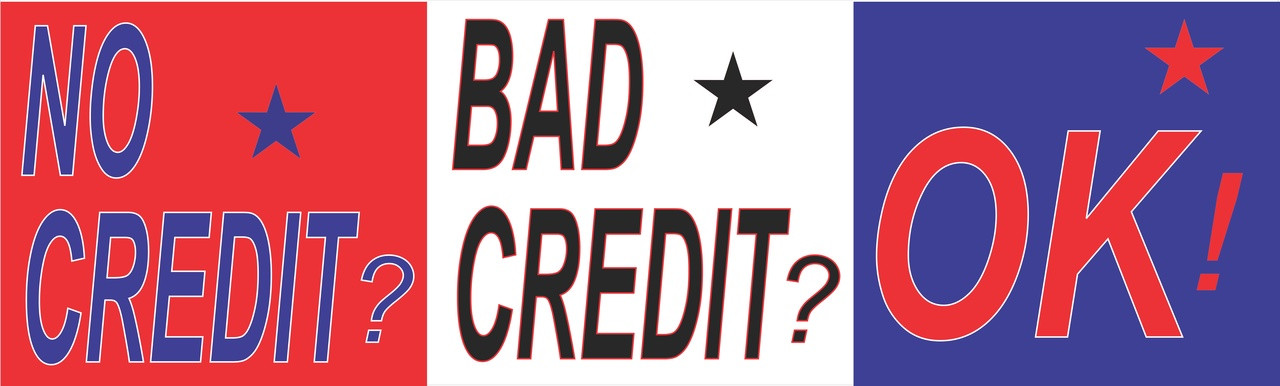 Red/White/Blue No Cedit Bad Credit Ok! Auto Banner