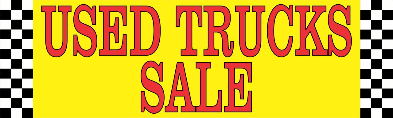 Auto Car Lot Banner Used Truck Sale.
