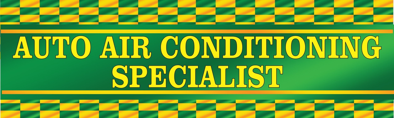 Auto Air Conditioning Specialist Banners