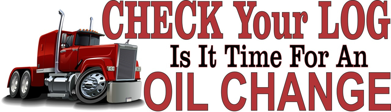 Check You Log time for an Oil Change Banner.