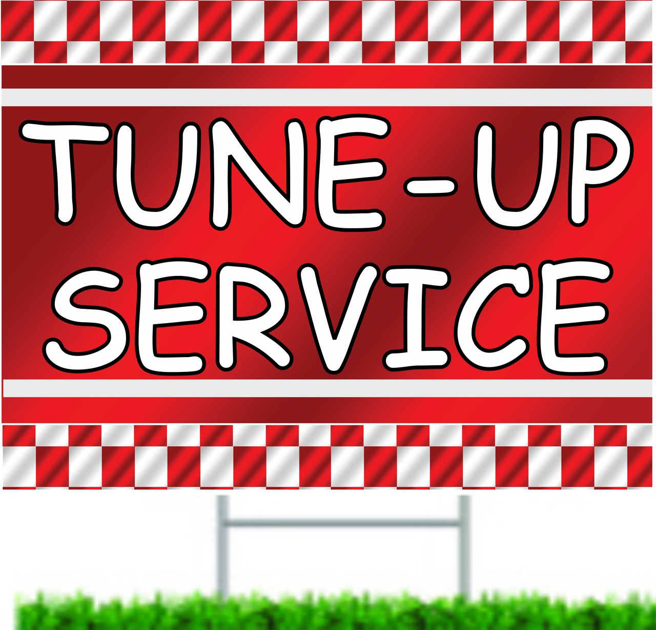 Tune-up Service Auto Dealer Curb/Yard Sign.