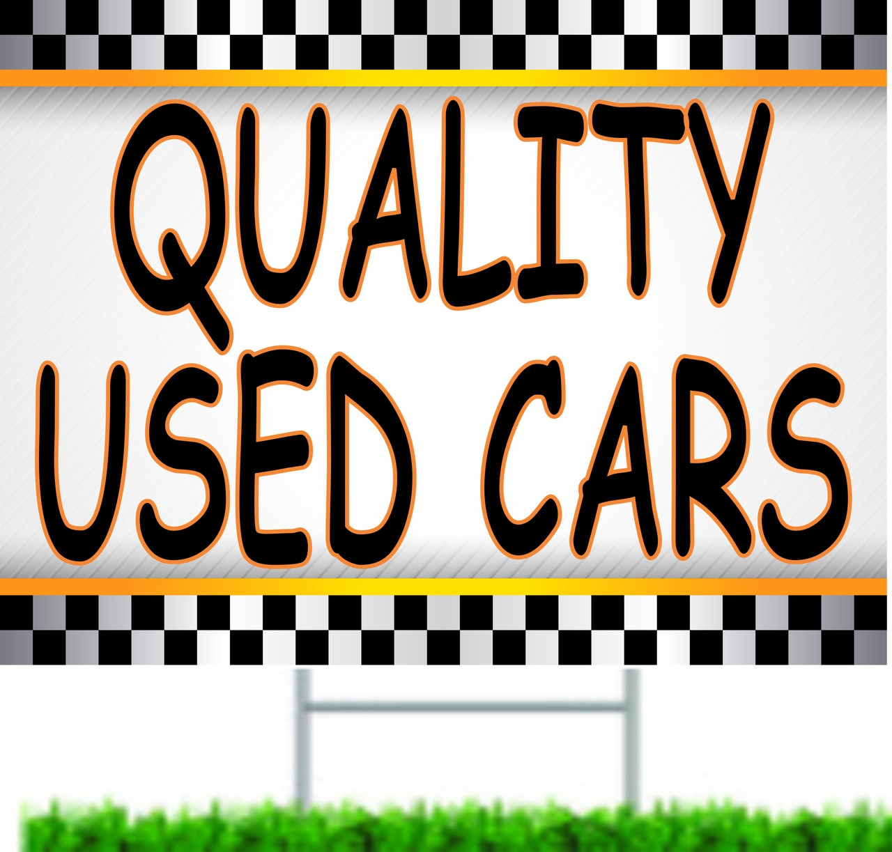 Quality Used Cars Automotive Dealer Yard Signs.