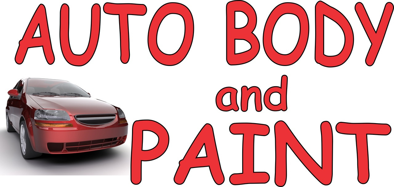 Auto Body and Paint Automotive Repair Banner.