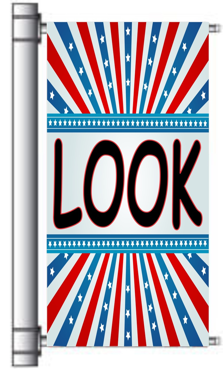 Look Used Car Pole Banner.