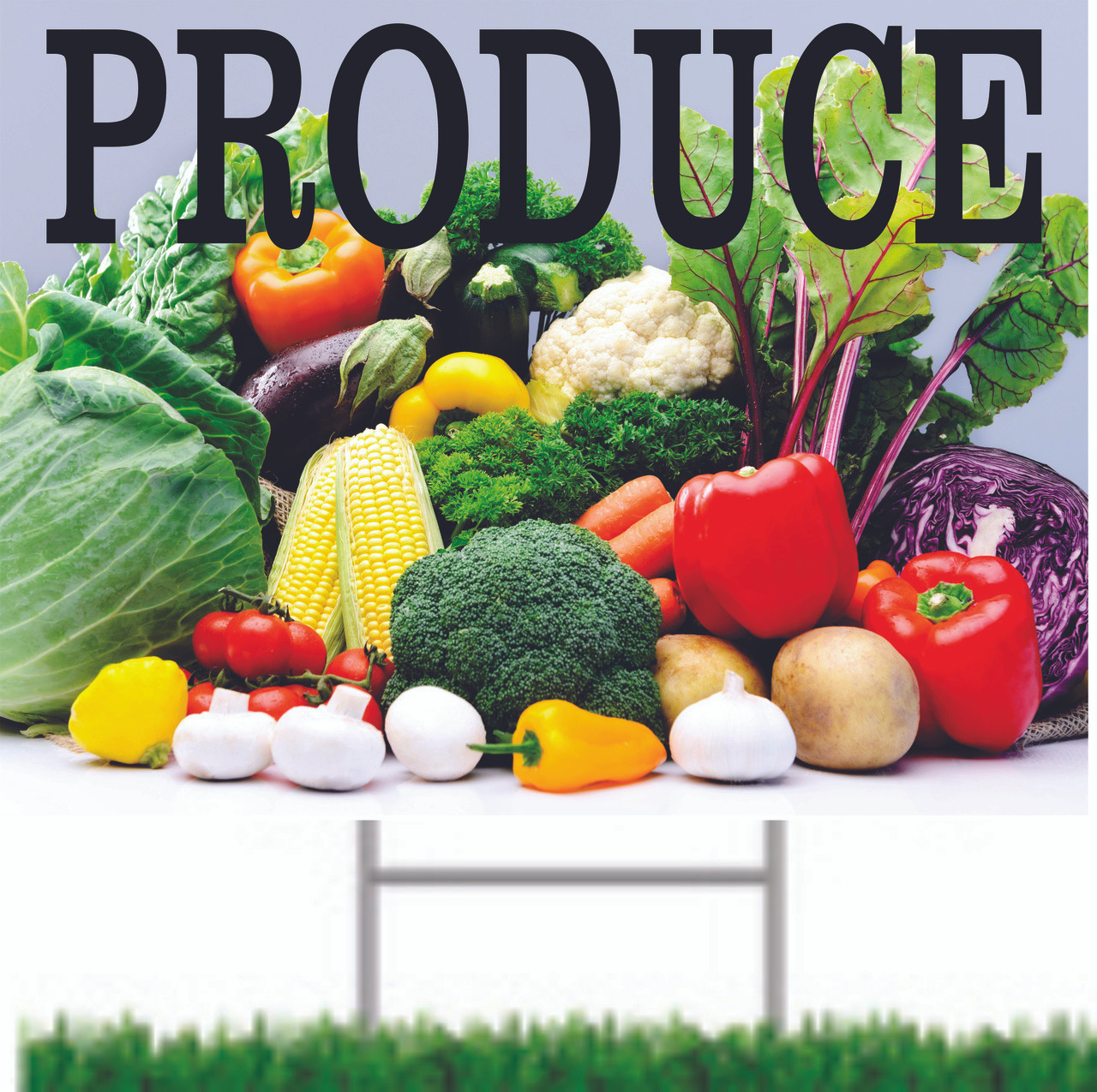 Produce Road Sign Great for Vegetable Stands or Farmers Markets