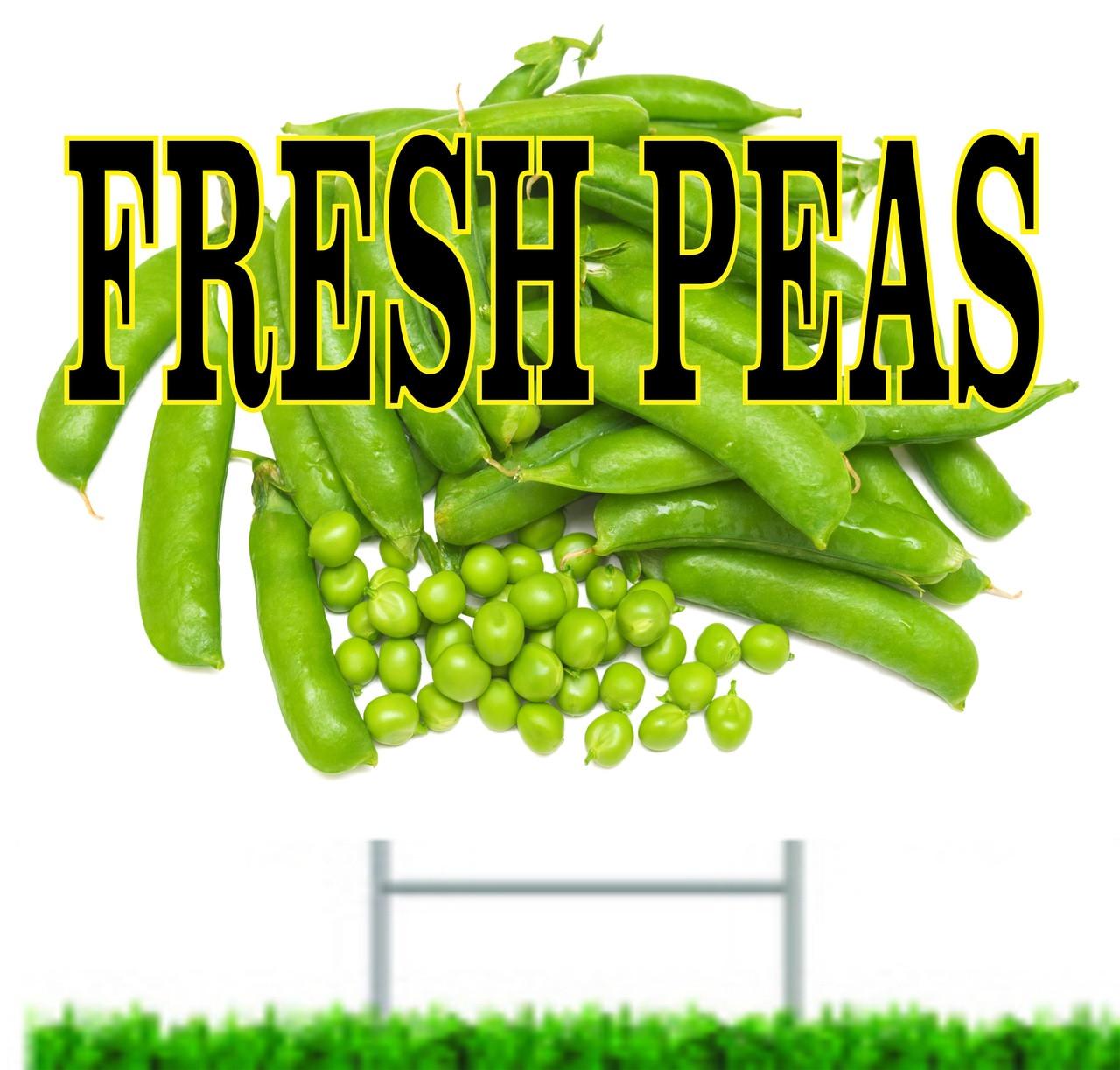 Fresh Peas Yard/Road Sign