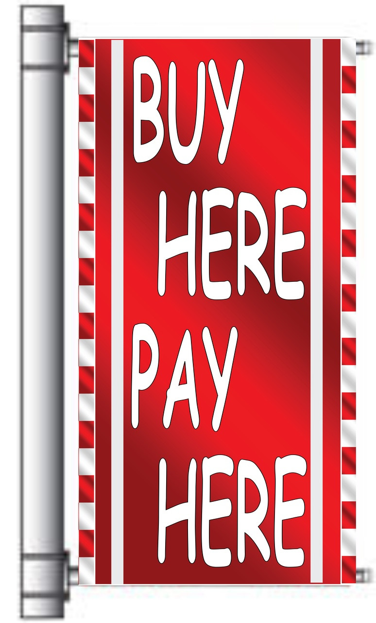 Buy Here Pay Here light pole banner