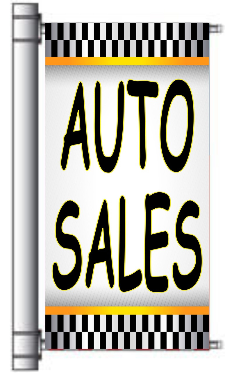 Auto Sales Light Pole Banner.