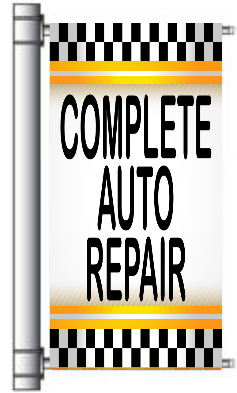 Complete Auto Repair Light Pole Banner.