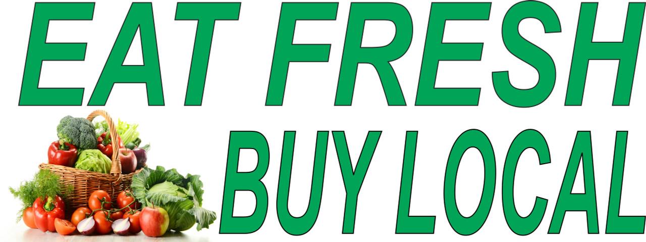Eat Fresh Buy Local Banner.