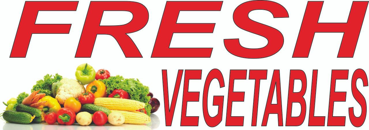 Fresh Vegetables Banner.