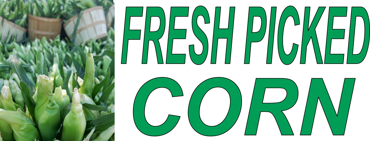 Fresh Picked Corn Banner.