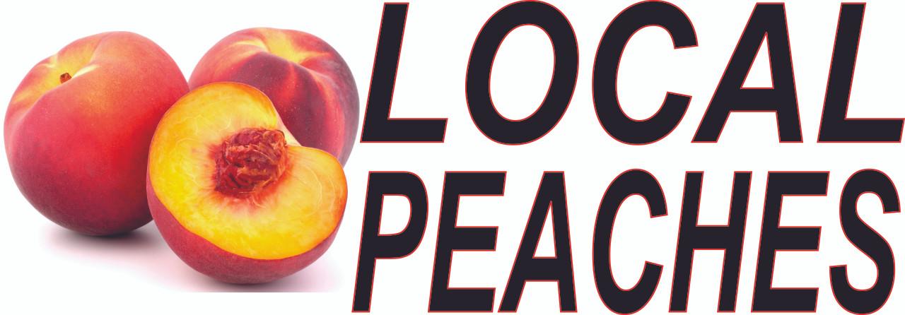 Local Peaches Banner.
