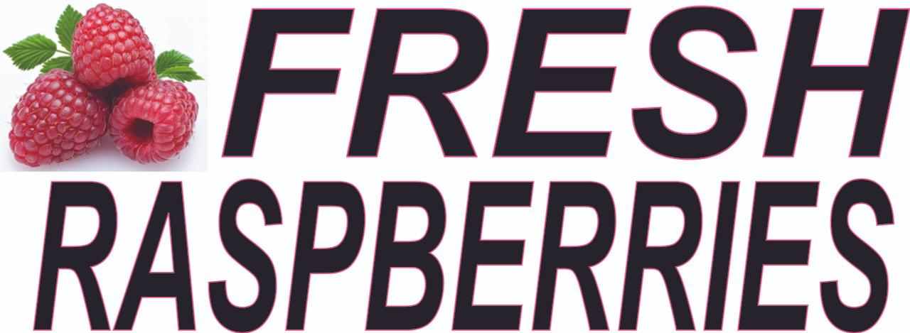 Fresh Raspberries Banner.