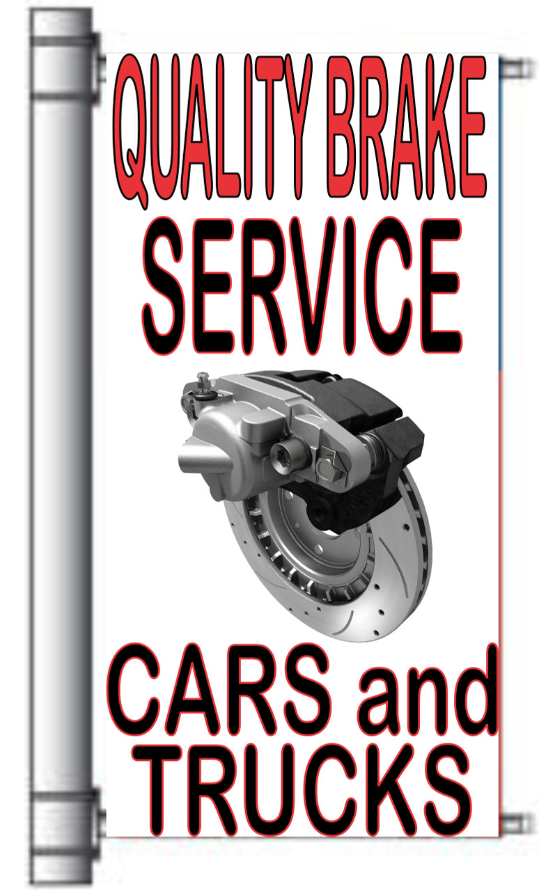 Quality Brake Service Cars & Trucks Light Pole Banner
