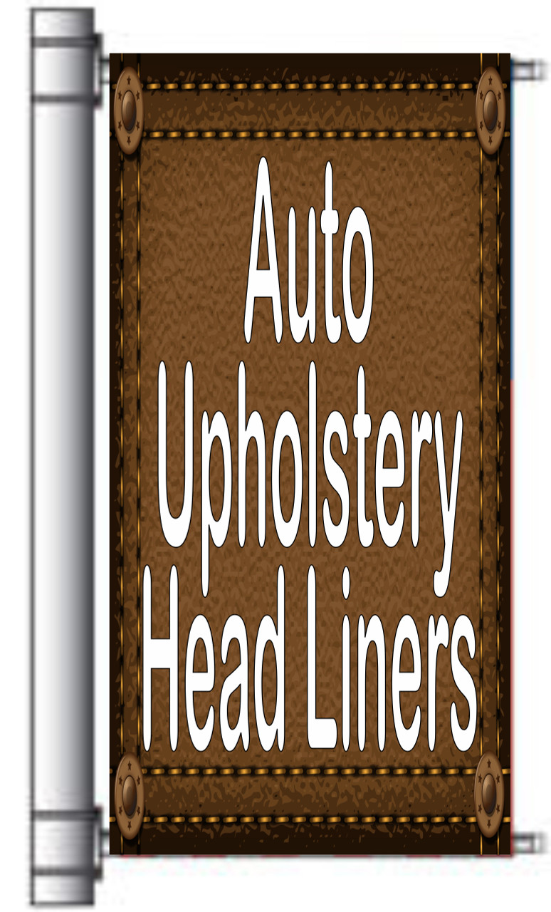 Auto Upholstery Head Liners Light Pole Banner