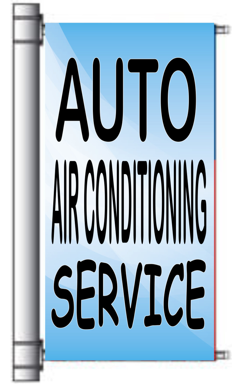 Auto Air Conditioning Light Pole Banner.