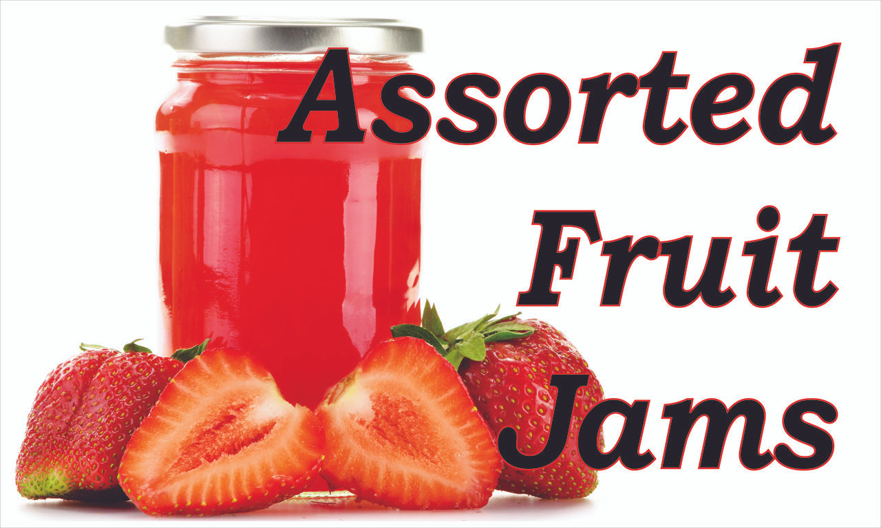 Produce Banner - Assorted Fruit Jams!