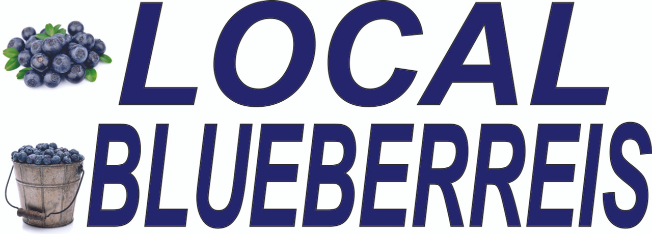 Local Blueberries Banner
