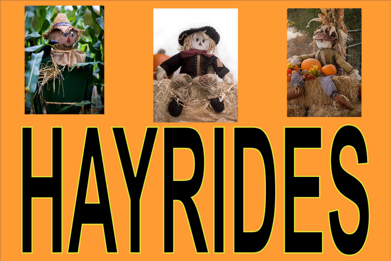 Hayrides with Scare Crows