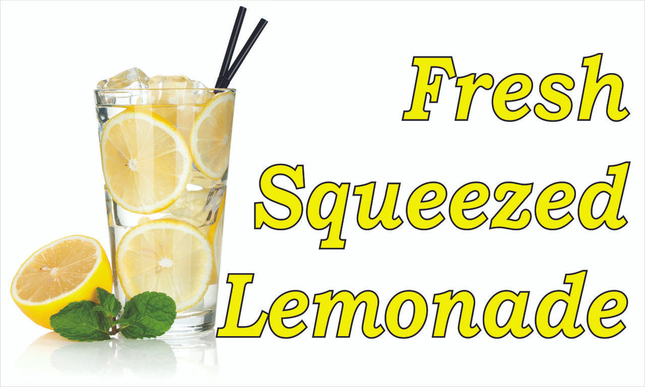 Produce Banner - Fresh Squeezed Lemonade!