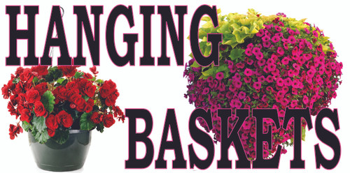 Hanging Basket 3ftx6ft Banner Extremely Colorful!