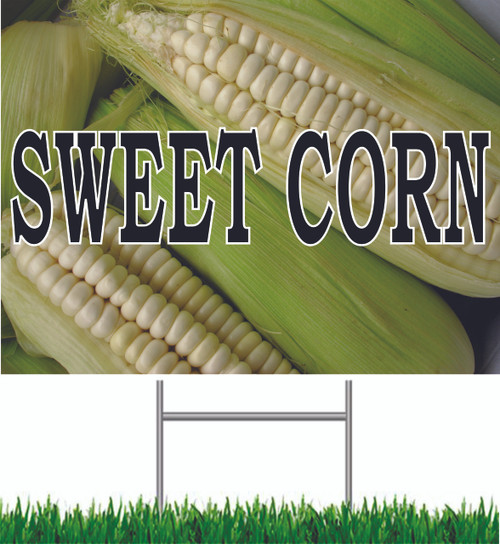 Sweet Corn Yard Sign is a terrific yard sign for produce stands.
