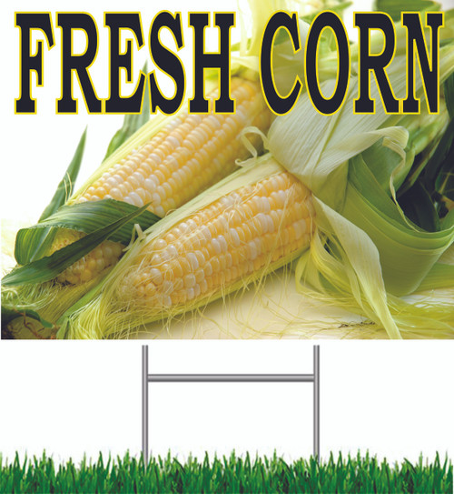 Fresh Corn Yard Sign is a Nice Noticeable Sign.
