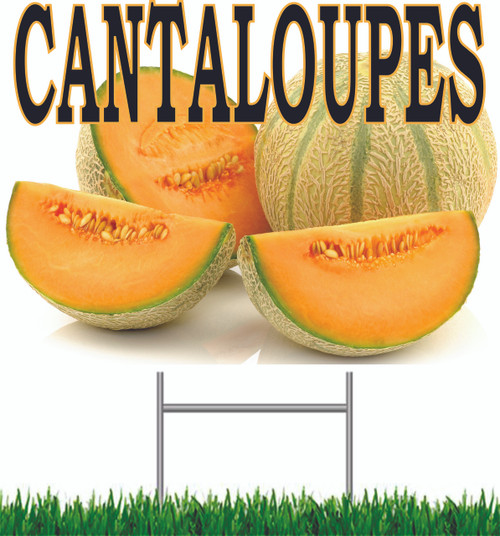 Cantaloupe Yard Sign is a Nice Bright & Colorful Get Noticed Sign.