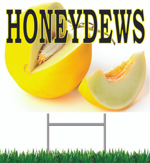 Honeydews Yard Sign is a Great Colorful Fruit Stand Sign.
