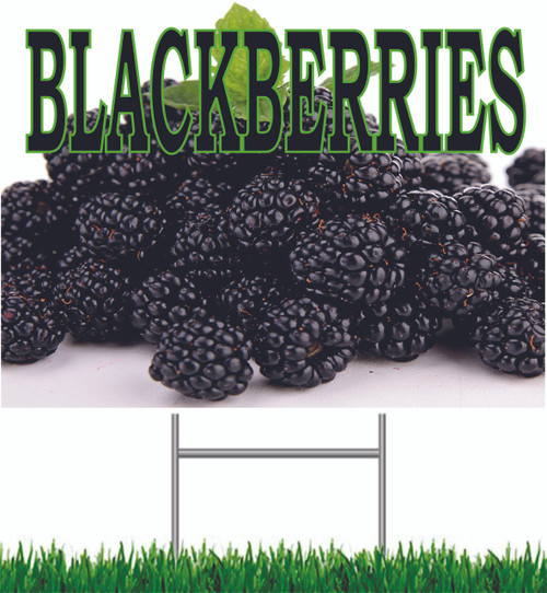 Blackberries Yard Sign gets noticed.