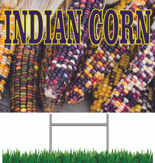 Indian Corn Yard Sign
