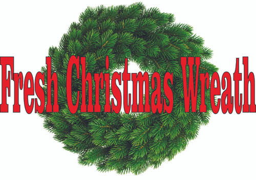 3ft Fresh Christmas Wreaths Banner