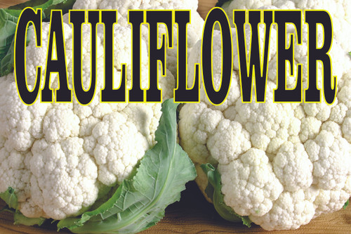 Colorful Cauliflower Banner Helps Get Customers Into Your Market.