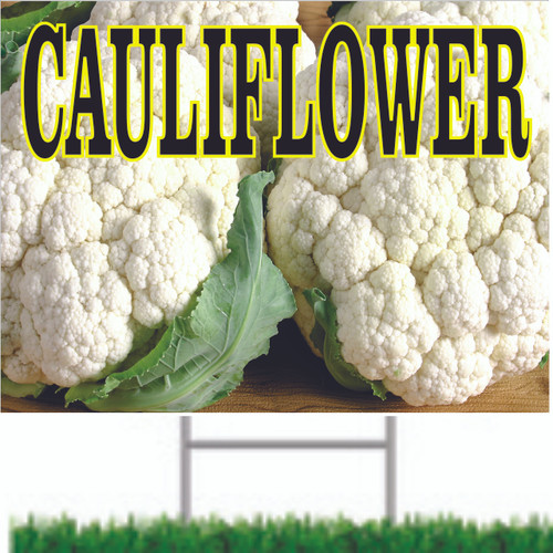 Bright Cauliflower Road Sign is perfect for vegetable market.