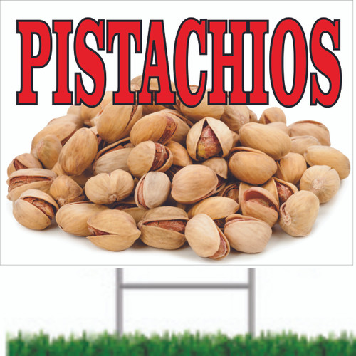 pistachios Road Sign will Get Noticed By Passing Mortorist.