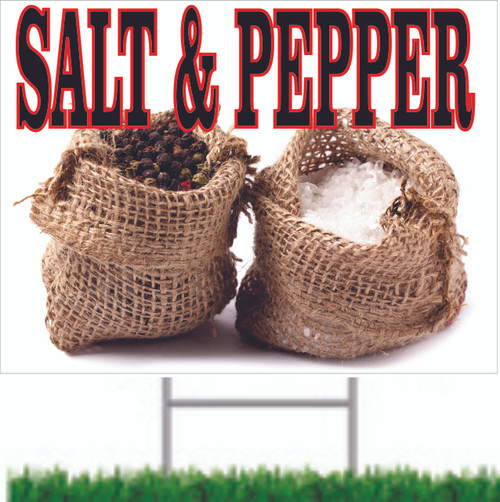 Salt & Pepper Road/Yard Sign from Stop The Traffic.