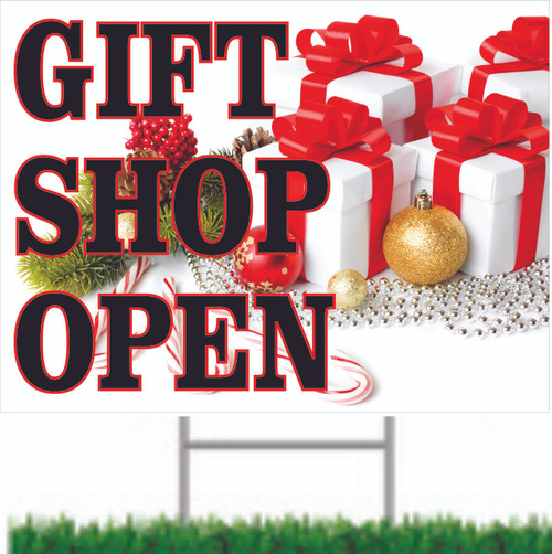 Gift Shop Open Road Sign Helps Bring In New Customers.