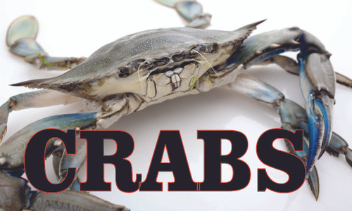 Blue Crab Banner in Full Color get customer looking.